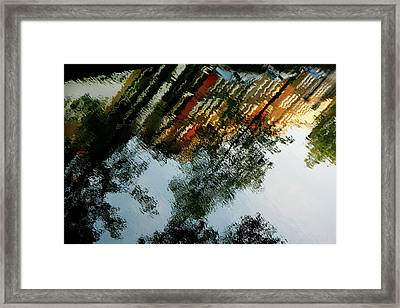 Dutch Canal Reflection Framed Print