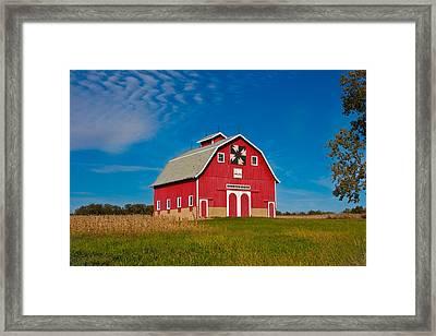 Dutch Colonial Quilt Barn Framed Print