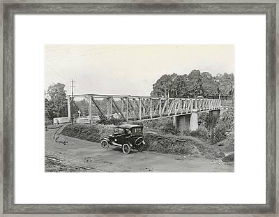 Dutch East Indies, Indonesia, Bridge Over Batang Toro Car Framed Print