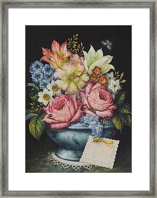 Dutch Flowers Framed Print by Lynn Bywaters