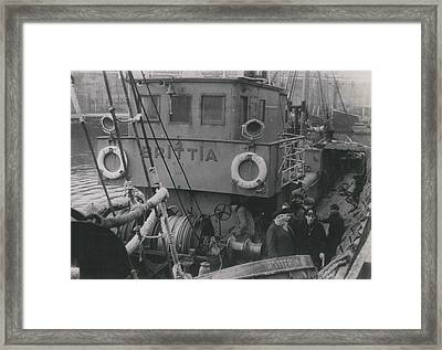 Dutch Freight Ship �r.p.s.� Sinks Off Ushant Framed Print by Retro Images Archive