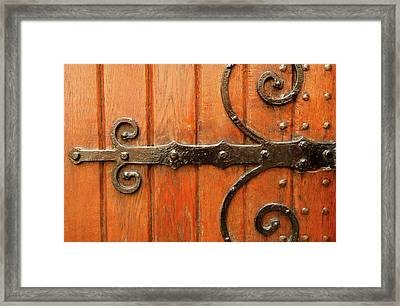 Framed Print featuring the photograph Dutch Hinge by KG Thienemann