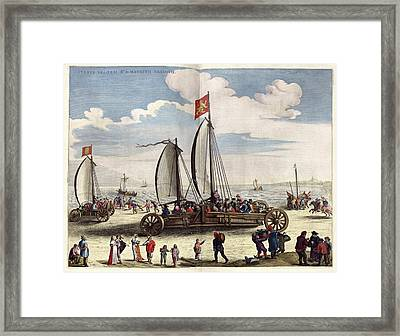 Dutch Land Yachts Framed Print by Library Of Congress, Geography And Map Division