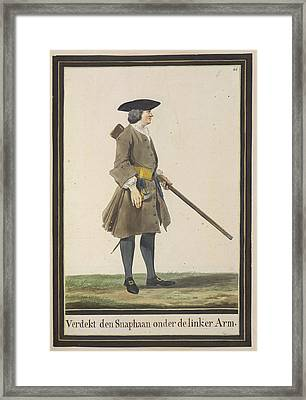 Dutch Military Costurmes And Musket Exerc Framed Print