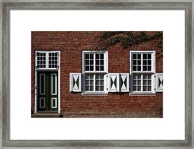 Dutch Neighborhood In Potsdam Framed Print
