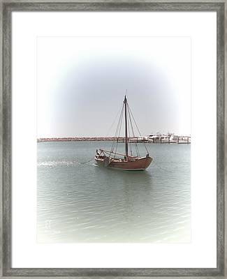 Dutch Vessel Framed Print by Elaine Teague