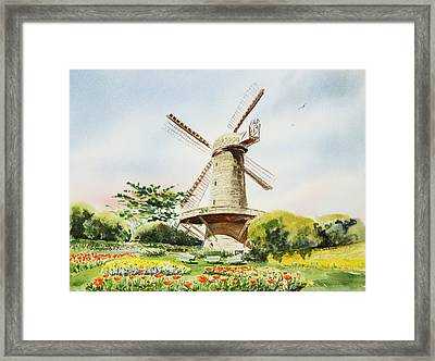 Dutch Windmill In San Francisco  Framed Print by Irina Sztukowski