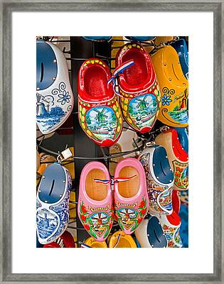 Dutch Wooden Shoes Framed Print by Dennis Cox WorldViews