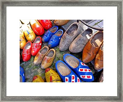 Dutch Wooden Shoes Framed Print by Gerry Bates