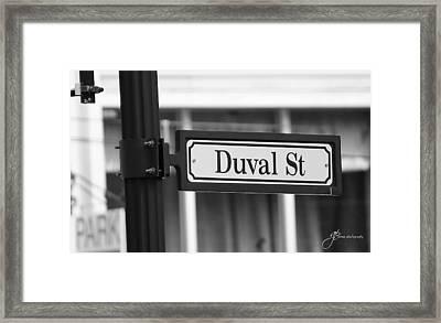Duval Street Framed Print