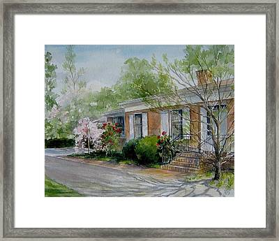 Framed Print featuring the painting Duvall Home Portrait by Gloria Turner