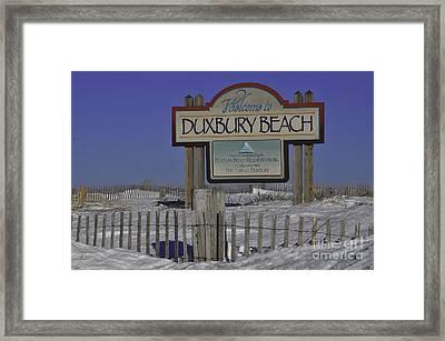 Duxbury Beach Framed Print