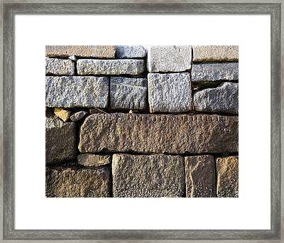 Duxbury Granite Framed Print