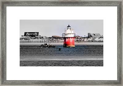 Duxbury Pier Light Framed Print