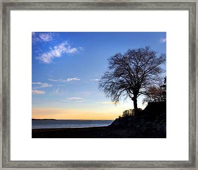 Duxbury Sunset Framed Print