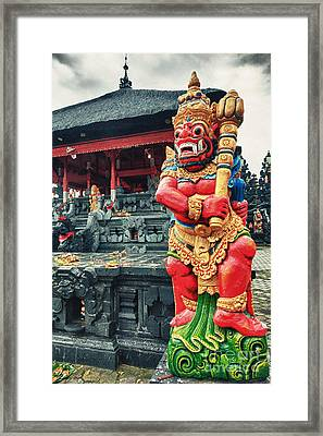 Dvarapala Framed Print by MotHaiBaPhoto Prints
