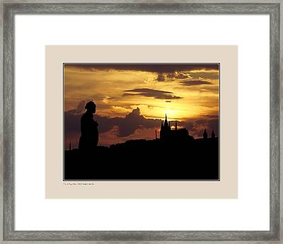 Framed Print featuring the photograph Dvorak And Skyline by Pedro L Gili