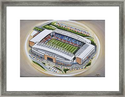 Dw Stadium - Wigan Athletic Framed Print by D J Rogers