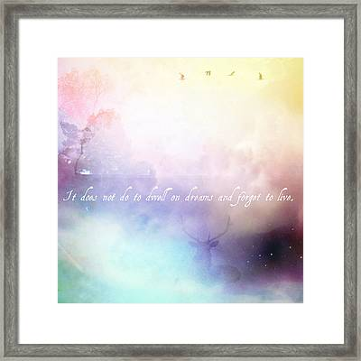 Dwell Framed Print by Elina Cate
