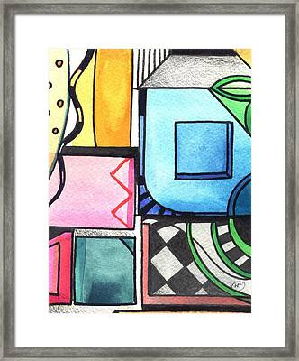 Dwelling In The Square Framed Print by Helena Tiainen