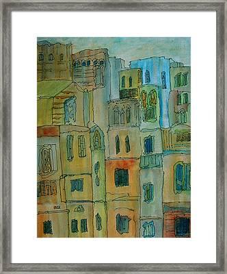 Dwellings Framed Print by Oscar Penalber