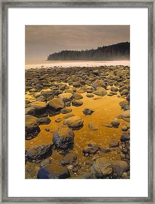 D.wiggett Rocks On Beach, China Beach Framed Print