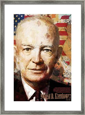 Dwight D. Eisenhower Framed Print by Corporate Art Task Force