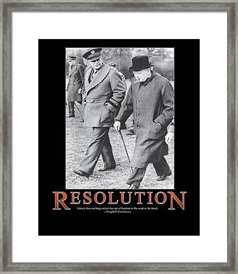 Dwight D. Eisenhower Resolution Framed Print