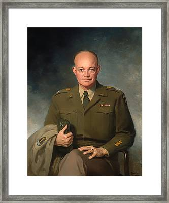 Dwight D Eisenhower Framed Print