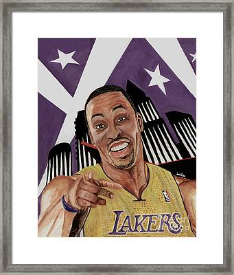 Dwight Howard Welcome To The  Lake Show Framed Print