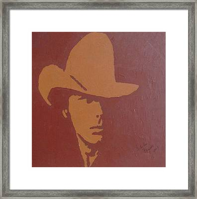 Dwight Yoakam Framed Print by Darlene Fernald