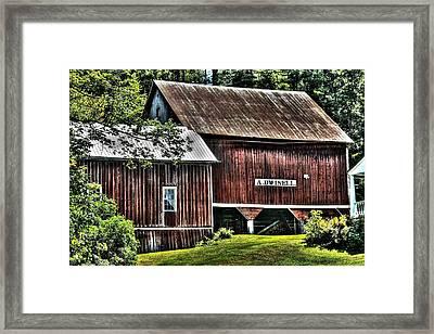 Dwinell's Barn Framed Print by John Nielsen