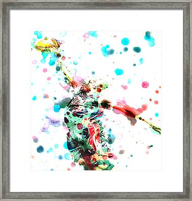 Dwyane Wade Framed Print by Brian Reaves