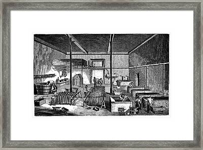 Dye Factory Framed Print by Science Photo Library