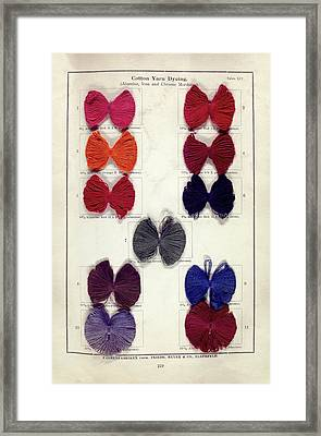 Dyed Cotton Yarn Samples Framed Print by Science, Industry And Business Library: General Collection/new York Public Library