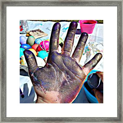 Dyed Hand Framed Print
