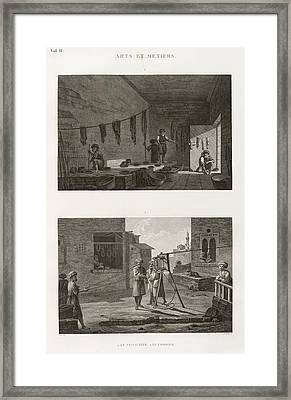 Dyeing And Rope-making Framed Print