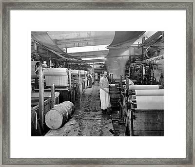 Dyeing Silk Framed Print