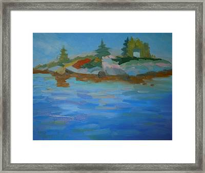 Dyer Bay Island Framed Print