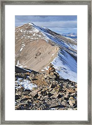 Dyer Mountain Framed Print by Aaron Spong