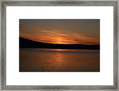 Dying Breath Of The Day Framed Print