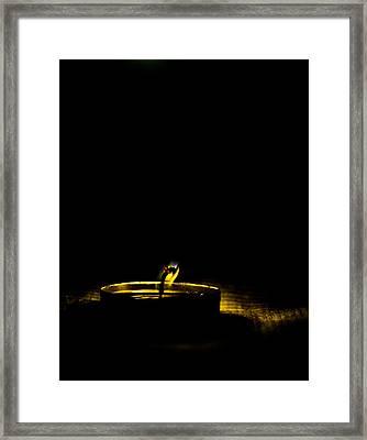 Dying Flame Framed Print by Gautam Gupta