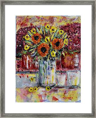 Dying Flowers Framed Print