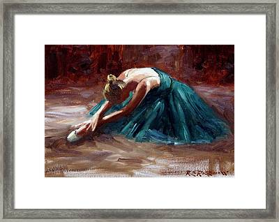 Dying Swan Framed Print by Roelof Rossouw