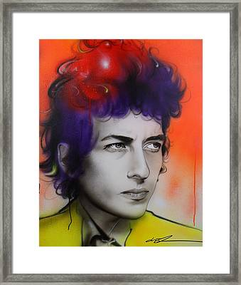 Bob Dylan - ' Dylan ' Framed Print by Christian Chapman Art