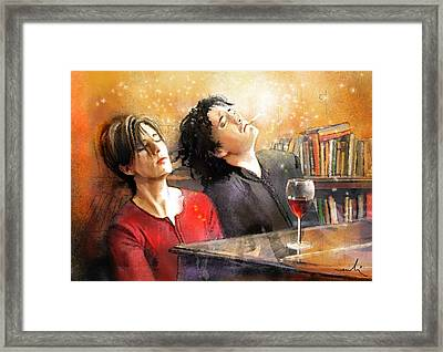 Dylan Moran And Tamsin Greig In Black Books Framed Print