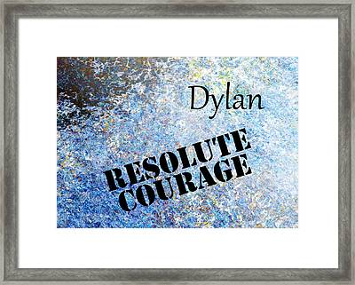 Dylan - Resolute Courage Framed Print by Christopher Gaston