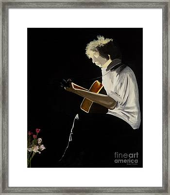 Dylan Framed Print by Stuart Engel