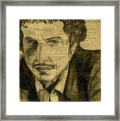 Dylan The Poet Framed Print by Debi Starr