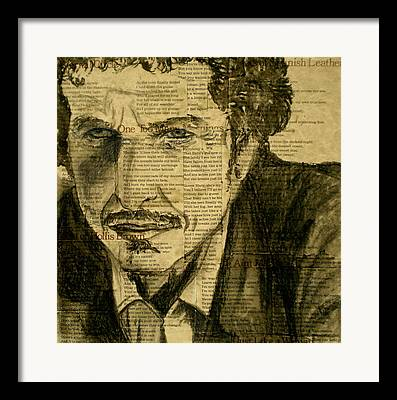 Dylan The Poet Framed Prints